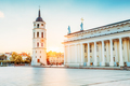 Vilnius Lithuania. Cathedral Square With Bell Tower, Cathedral B
