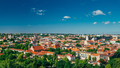 Cityscape Of Vilnius, Lithuania In Summer. Beautiful Panoramic V