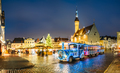 Train for sightseeing near Traditional Christmas Market On Town