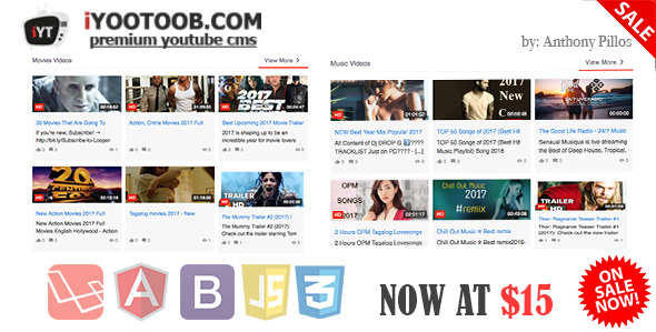 iYOOTOOB – PREMIUM YOUTUBE CMS (PHP Scripts) images