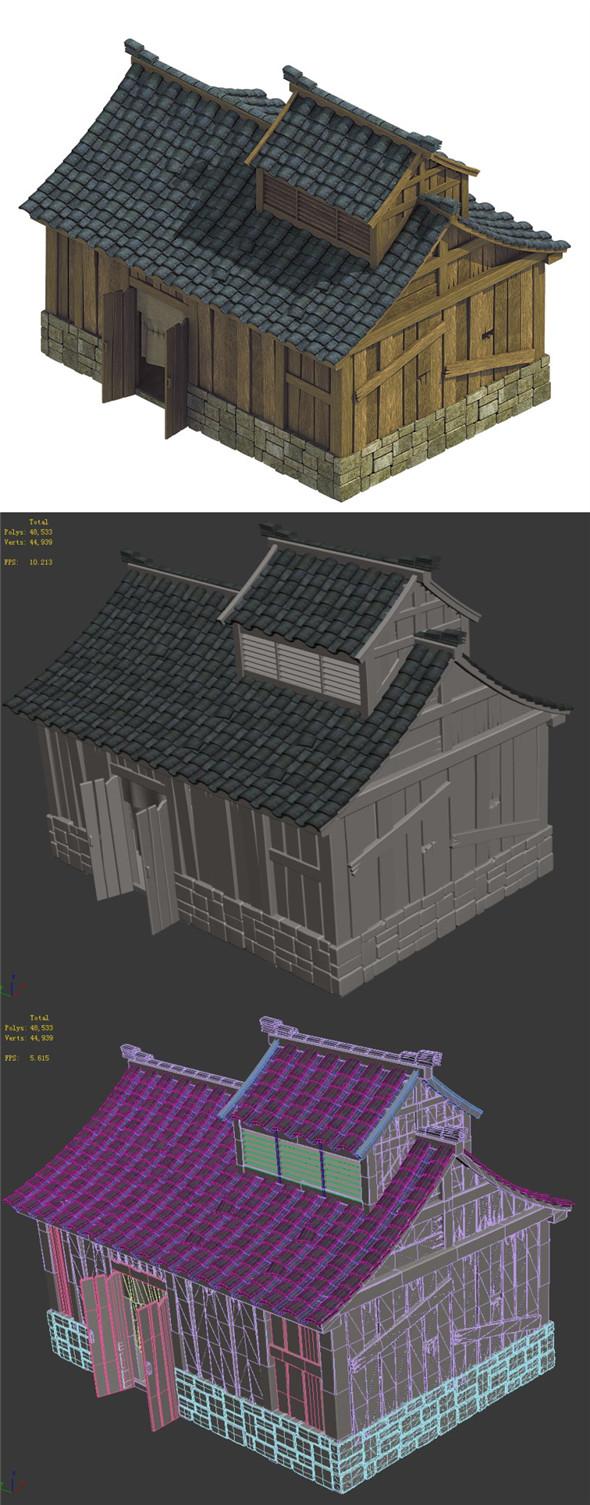Heyang City - House 03 - 3DOcean Item for Sale
