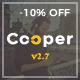Cooper - творческая тема для личного портфолио на WordPress