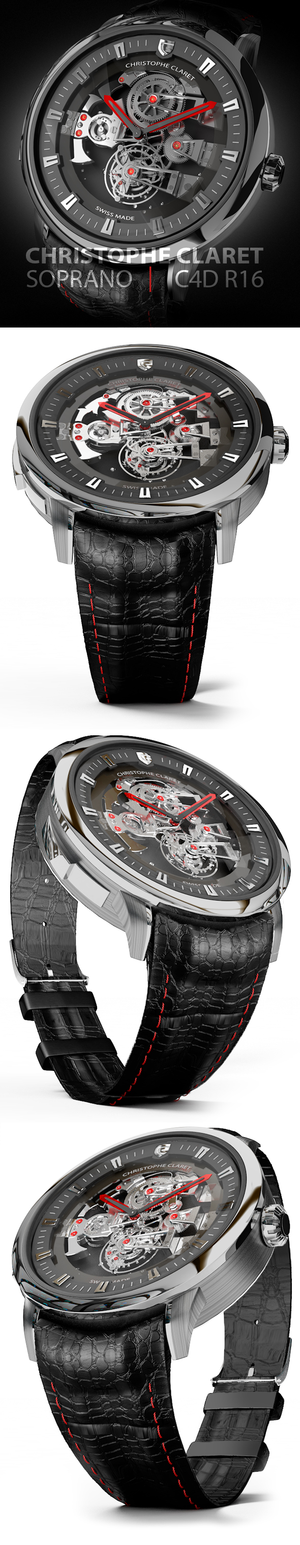 Christophe Claret Soprano Watch - 3DOcean Item for Sale