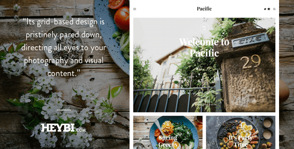 Pacific: Big Bold Photography-Driven Theme