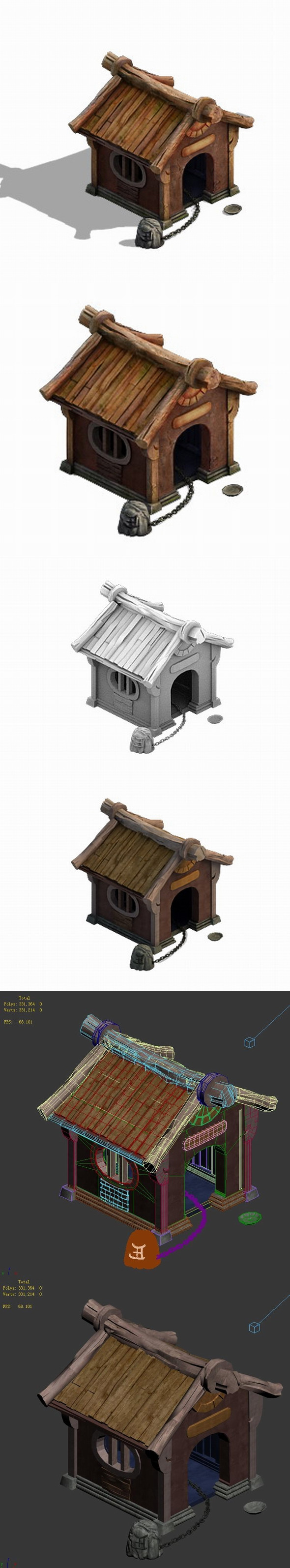 Family - dog house - 3DOcean Item for Sale