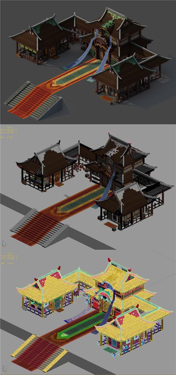 Family scene - bank - warehouse - 3DOcean Item for Sale