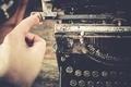 Typewriting on Vintage Machine