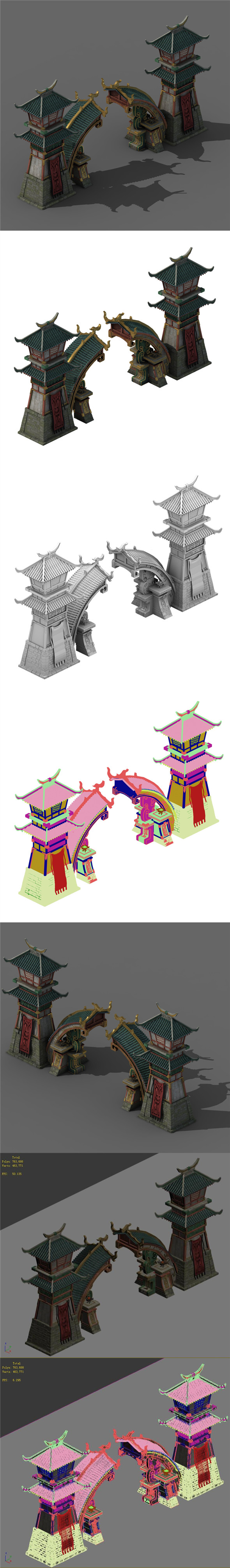 Architecture - City Gate 02 - 3DOcean Item for Sale