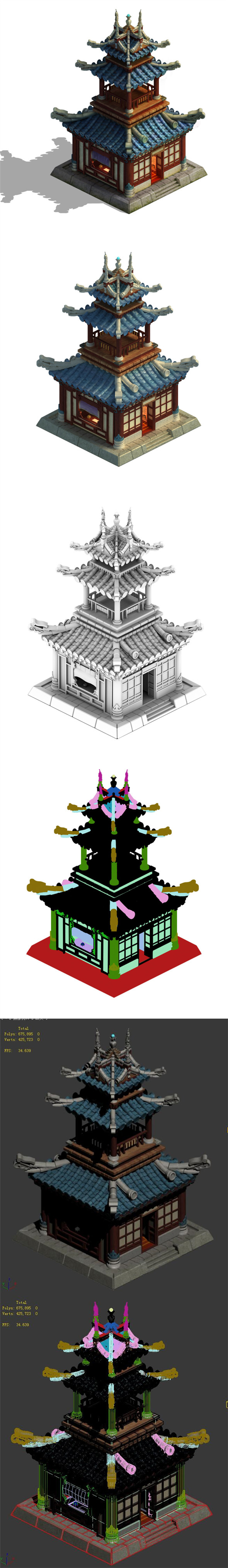Architecture Palace - Tower - 3DOcean Item for Sale