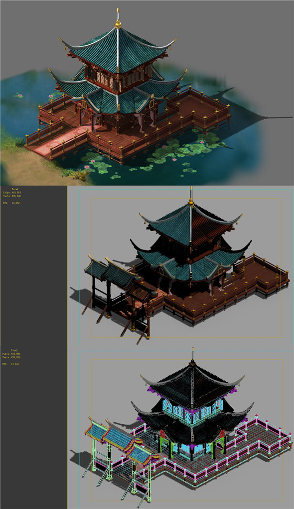 Building - Water loft 02 - 3DOcean Item for Sale
