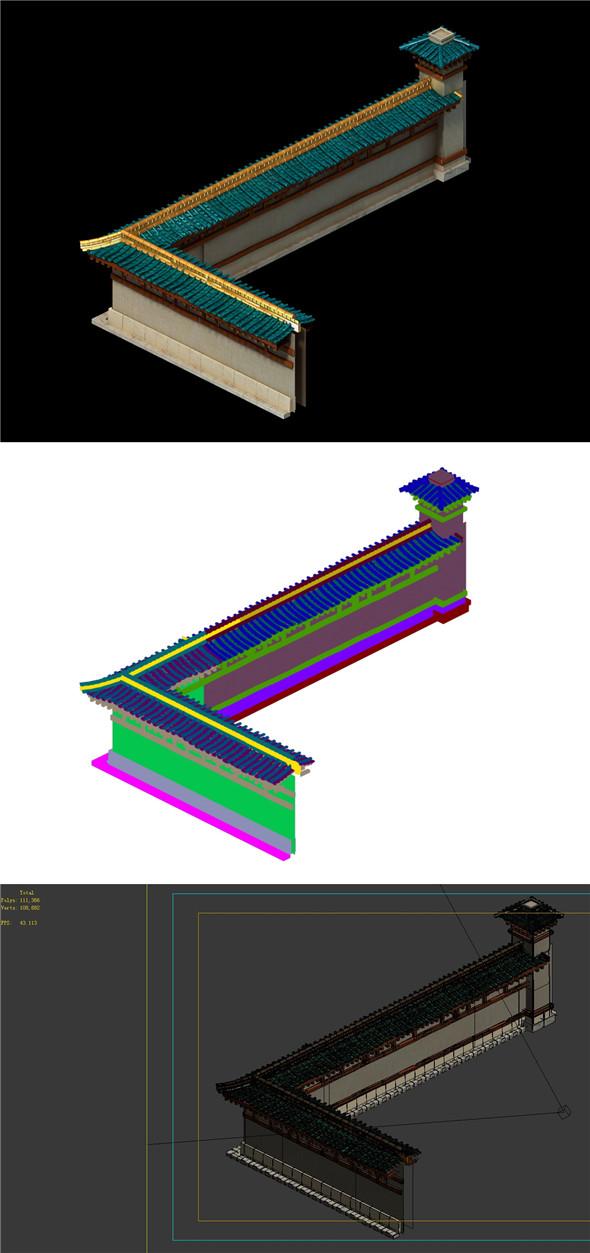 Building enclosure 02 - 3DOcean Item for Sale
