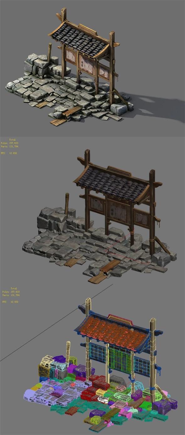 Barracks - bulletin board - 3DOcean Item for Sale
