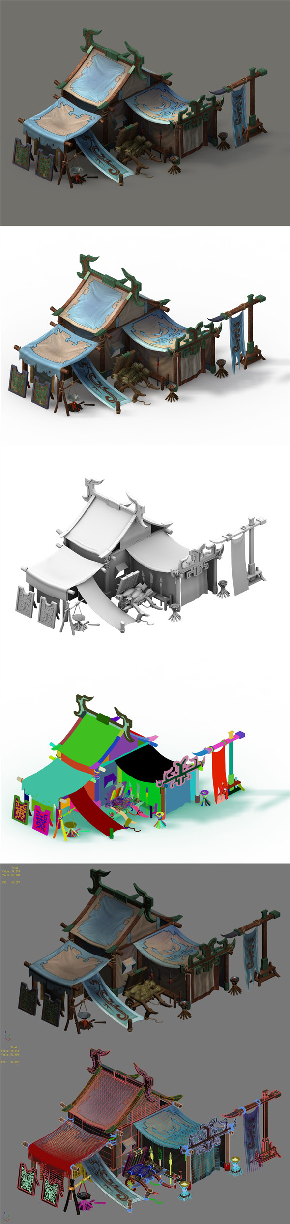 Barracks - tents - 3DOcean Item for Sale