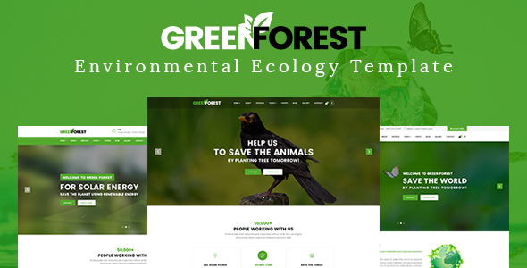 GreenForest – Environmental Ecology Responsive Template (Environmental)