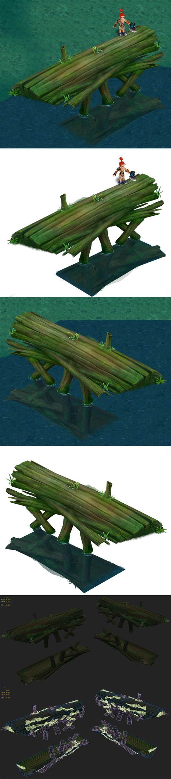 Cartoon Edition - Ancient Trees Bridge - 3DOcean Item for Sale