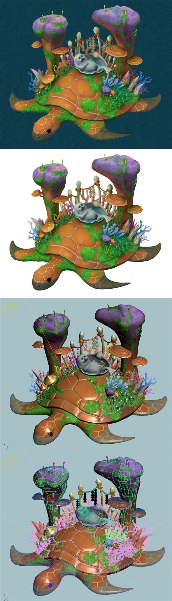 Cartoon version - seabed entrance - 3DOcean Item for Sale