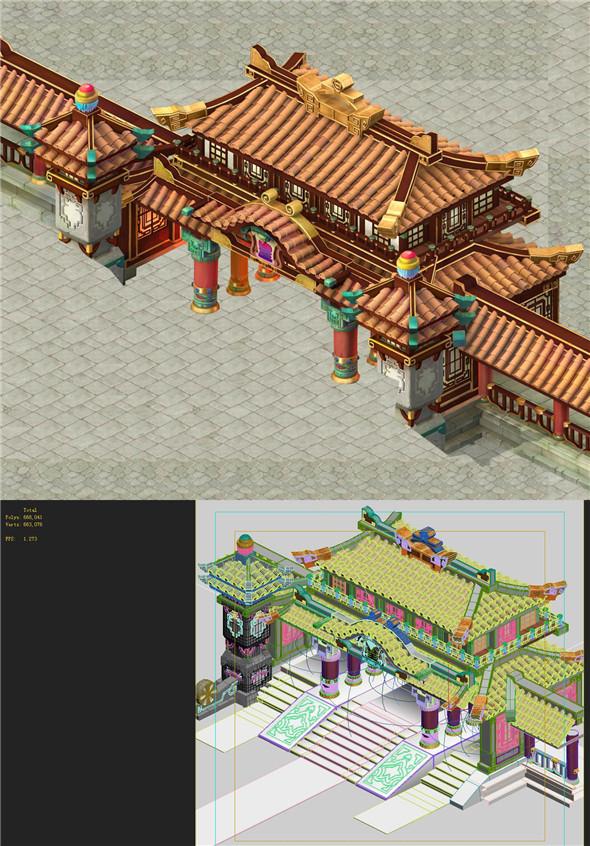 Cartoon Edition - Palace entrance - 3DOcean Item for Sale