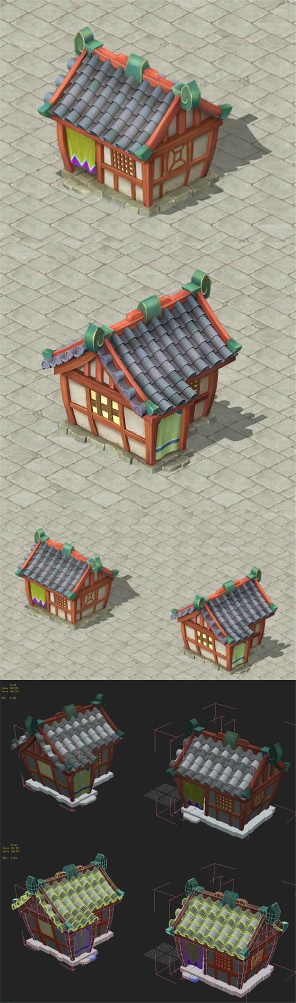 Cartoon Edition - House 13 - 3DOcean Item for Sale