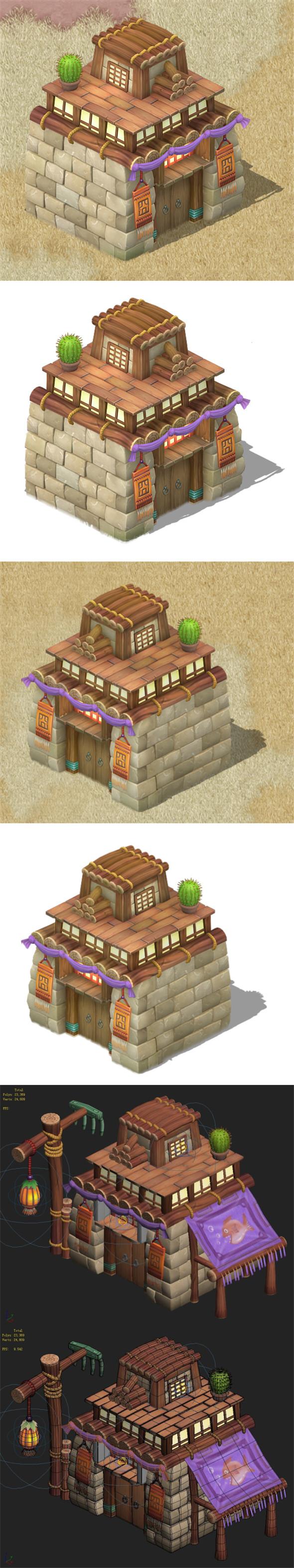 Cartoon version - House 0203 - 3DOcean Item for Sale