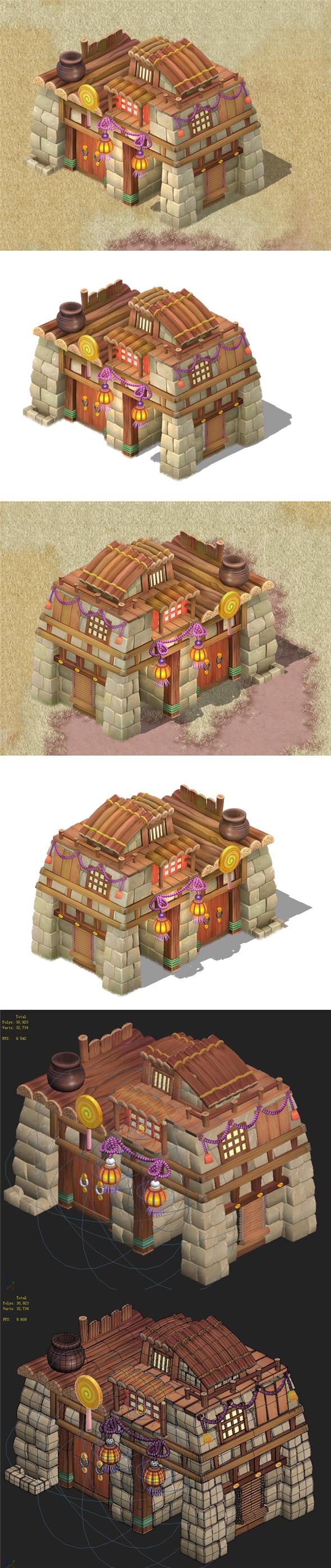 Cartoon version - House 0303 - 3DOcean Item for Sale