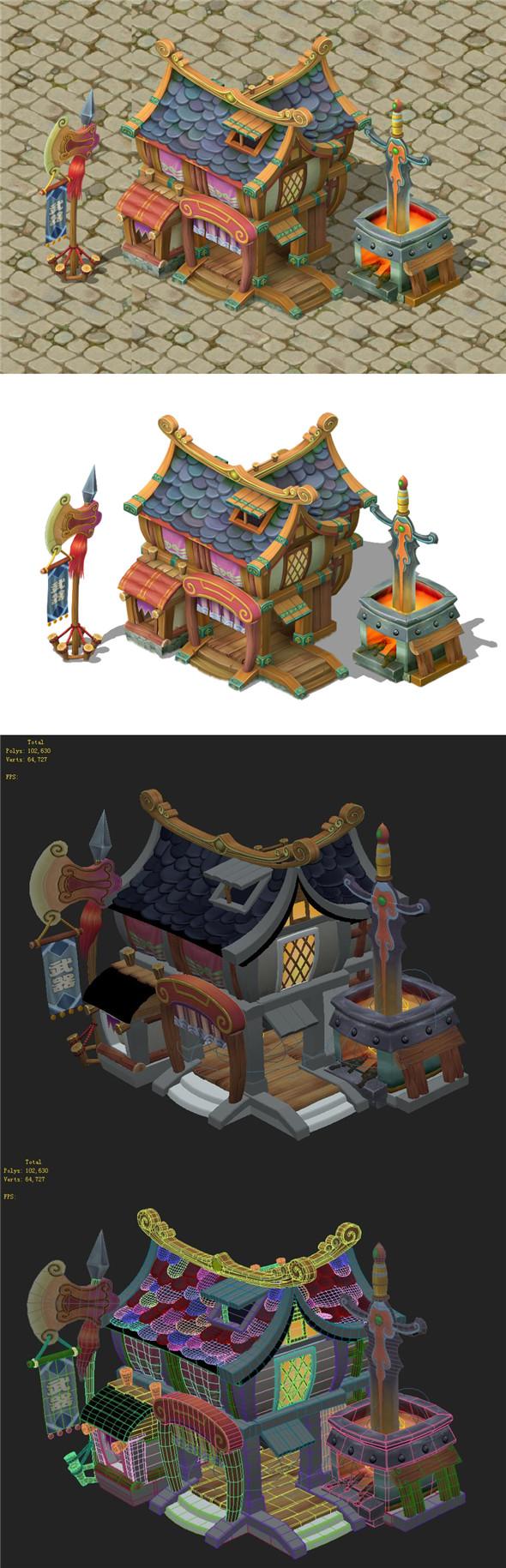 Cartoon Edition - Arsenal 02 - 3DOcean Item for Sale