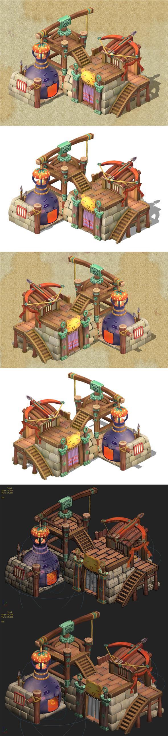 Cartoon Edition - Arms Shop 03 - 3DOcean Item for Sale