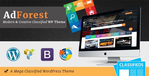 Фото Wordpress премиум тема  AdForest - Classified WordPress Theme — 01 theme preview.  large preview