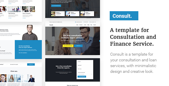 Consult – A Template for Consultation and Finance Service (Business) images