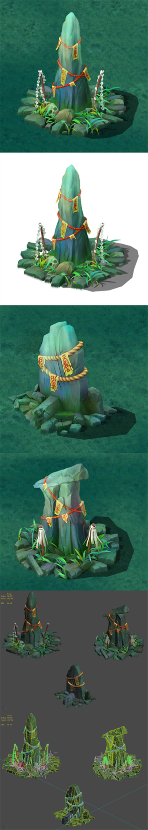 Cartoon version - the town of soul stone pillars - 3DOcean Item for Sale