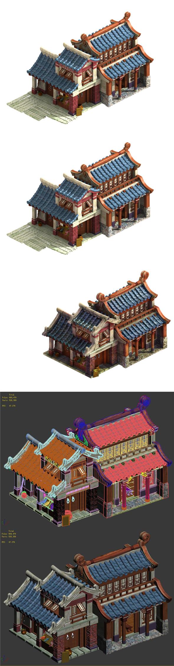 Cartoon - House 05 - 3DOcean Item for Sale