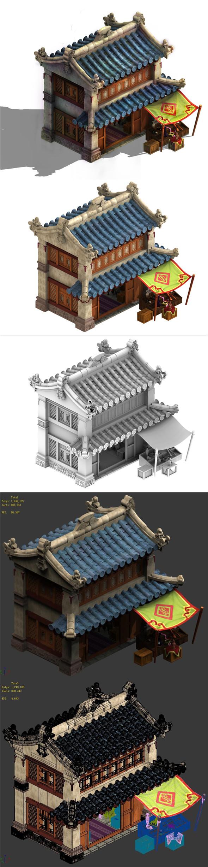 Cartoon - House 07 - 3DOcean Item for Sale