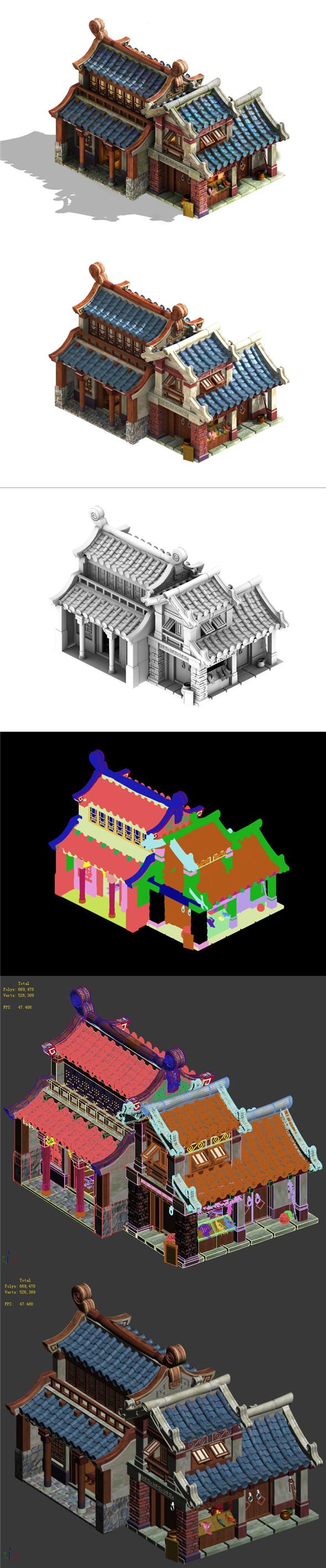 Cartoon - House 09 - 3DOcean Item for Sale