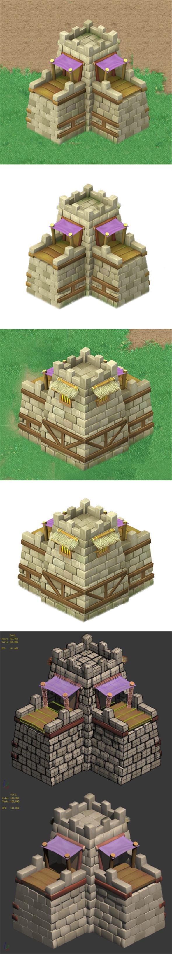 Cartoon World - City Gate 04 - 3DOcean Item for Sale