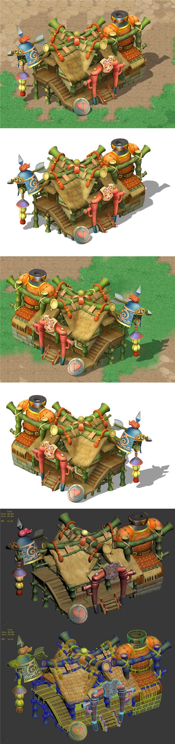 Cartoon world - armor shop - 3DOcean Item for Sale