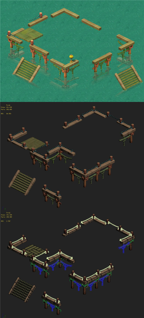 Cartoon World - Lotus Terrace - 3DOcean Item for Sale