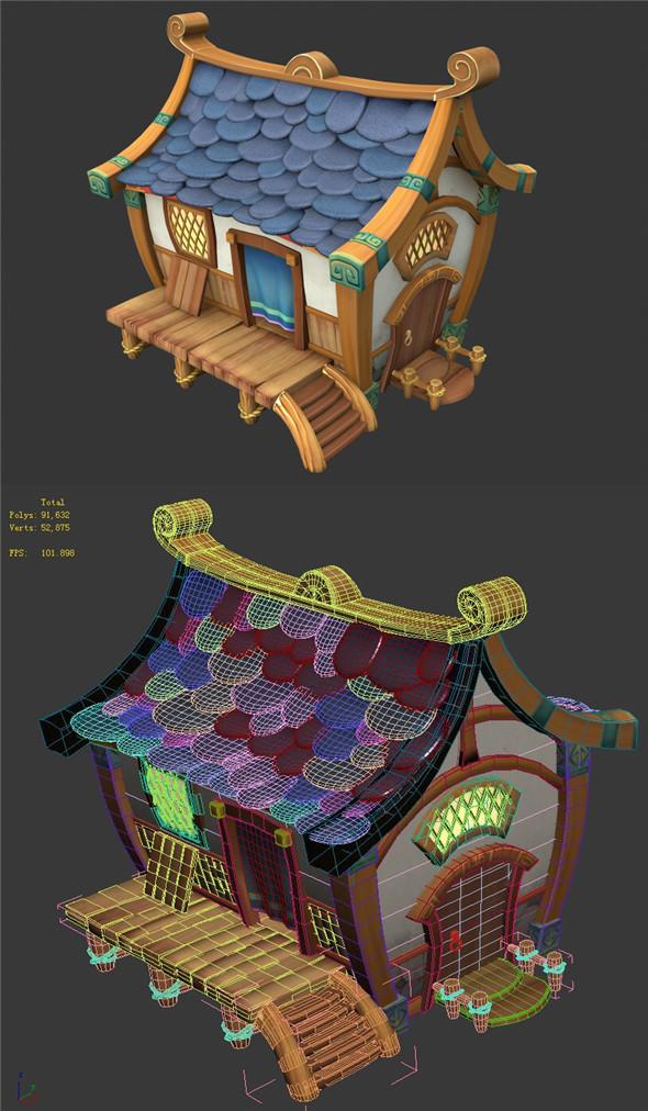Cartoon World - House 001 - 3DOcean Item for Sale