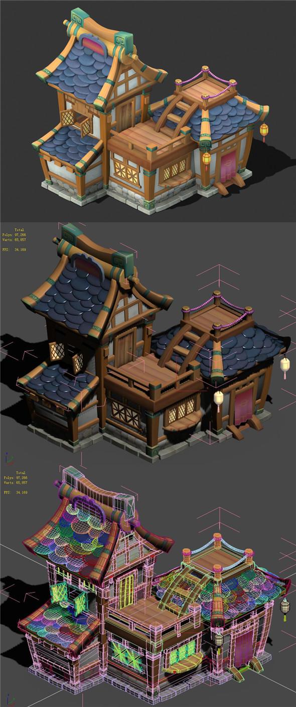 Cartoon World - House 002 - 3DOcean Item for Sale