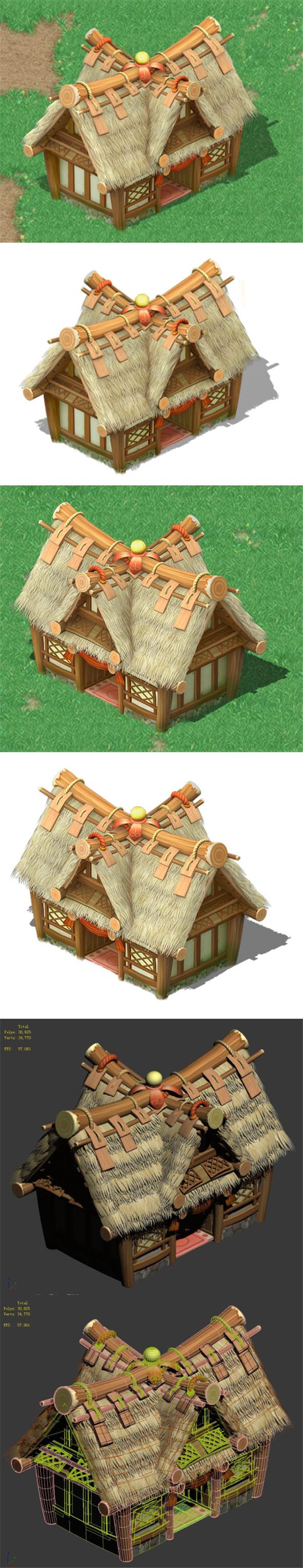 Cartoon World - House 0104 - 3DOcean Item for Sale