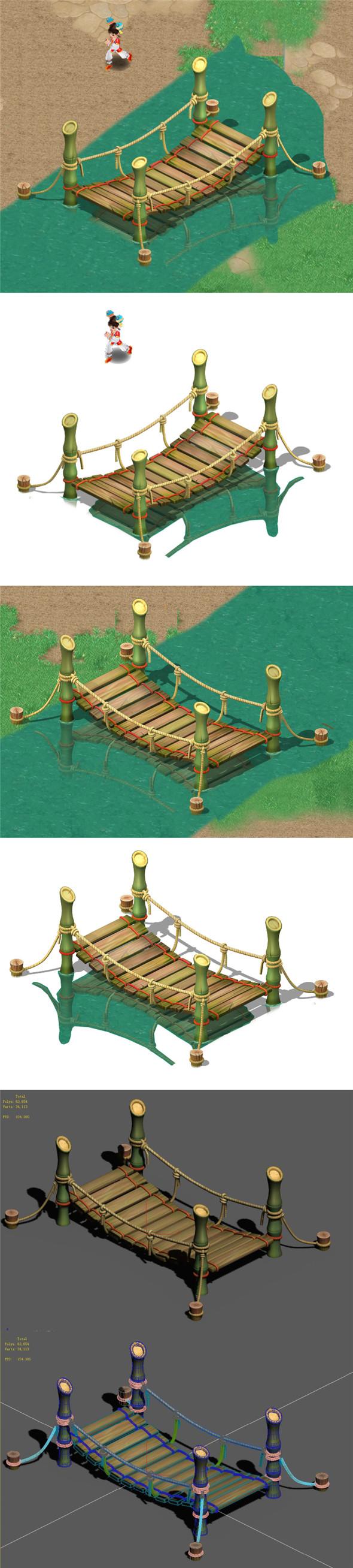 Cartoon World - Small Bridge - 3DOcean Item for Sale