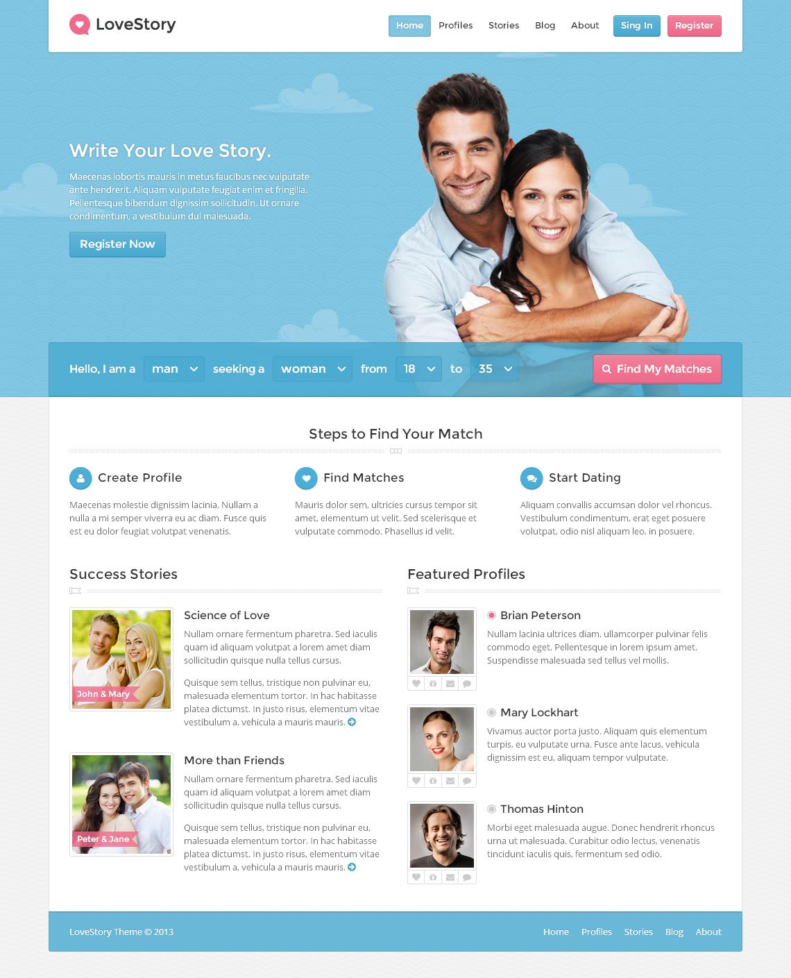 LoveStory - Dating WordPress Theme by themex | ThemeForest