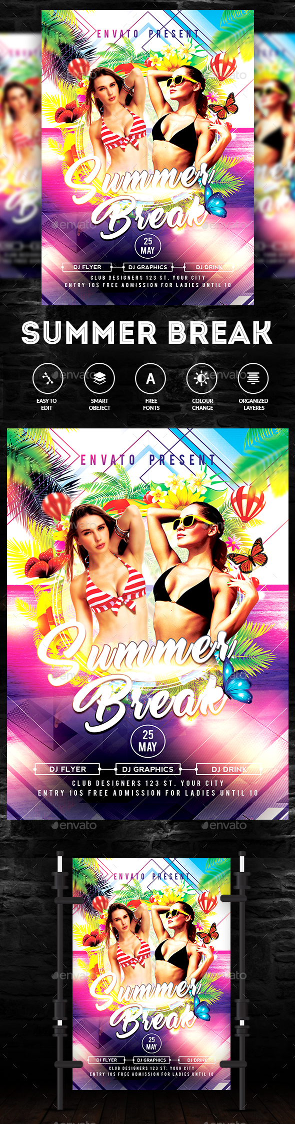 Summer Break - Flyer Template