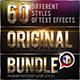 60 Original Photoshop Text Effects Bundle 1