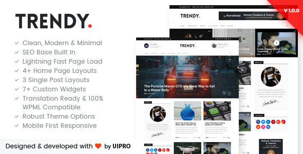 Trendy Pro – Premium Personal Blog WordPress Theme (Personal) images