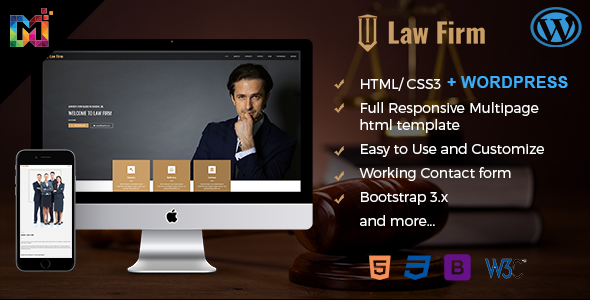 Responsive Law Firm Website Template