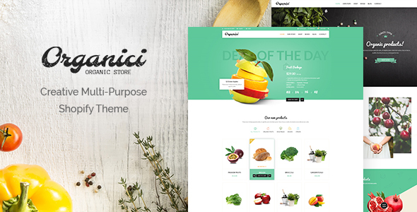 Organici - Creative Multi-Purpose Shopify Theme