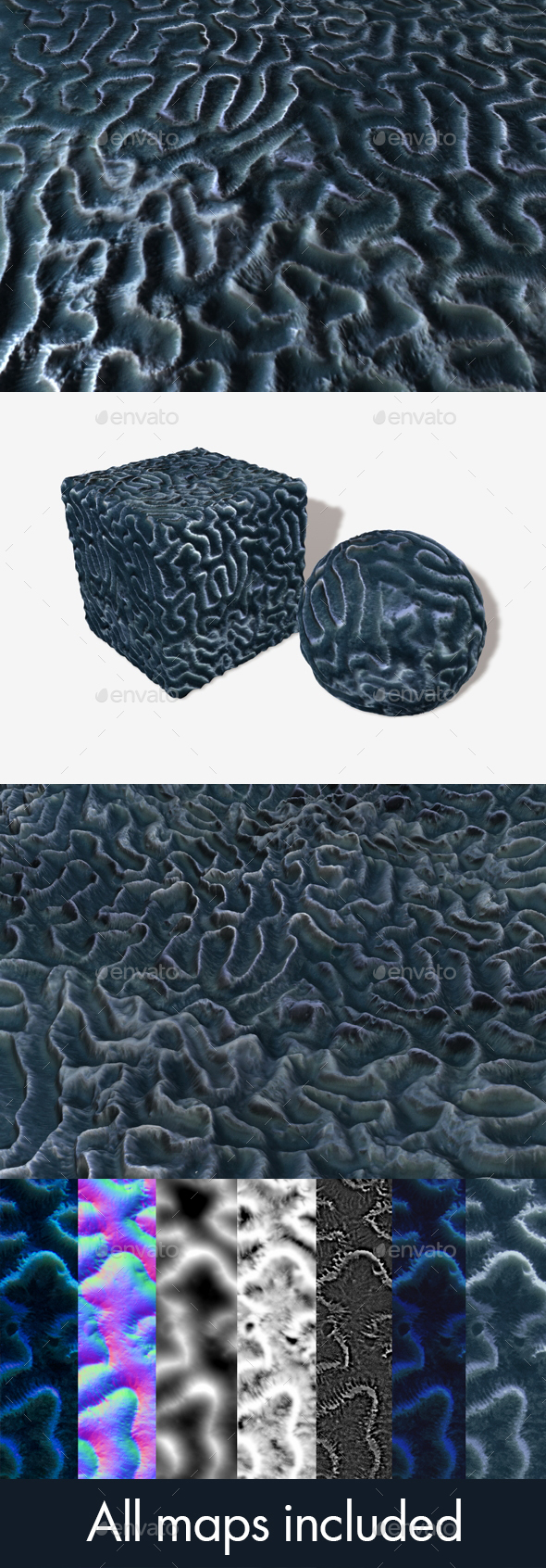 Brain Coral Ball Seamless Texture - 3DOcean Item for Sale