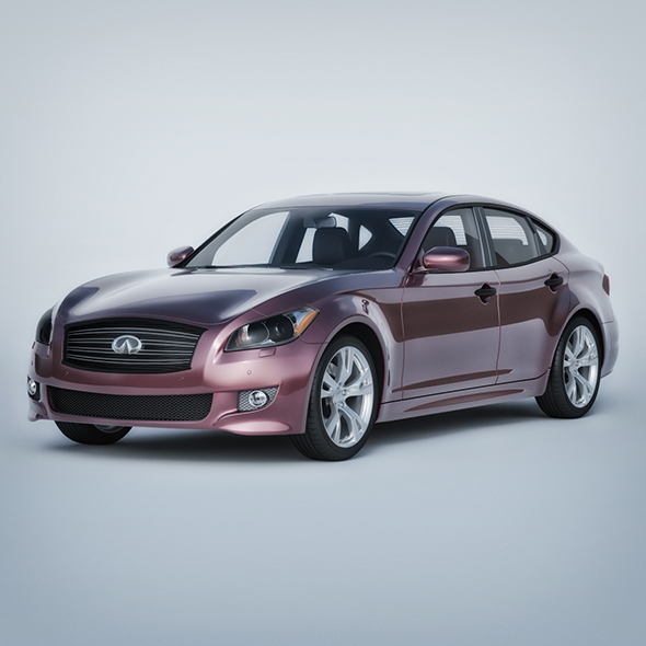 Vray Ready Realistic Infiniti Car - 3DOcean Item for Sale