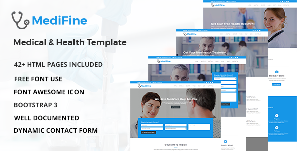 MediFine - Health and Medical HTML Template