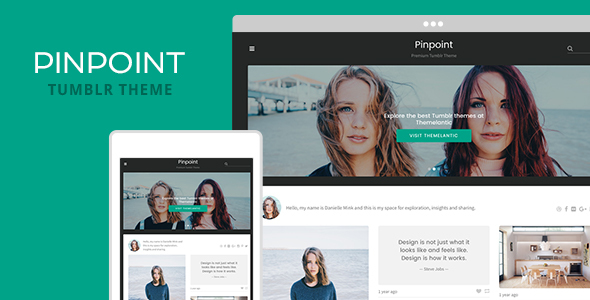 Pinpoint Tumblr Theme (Tumblr) images