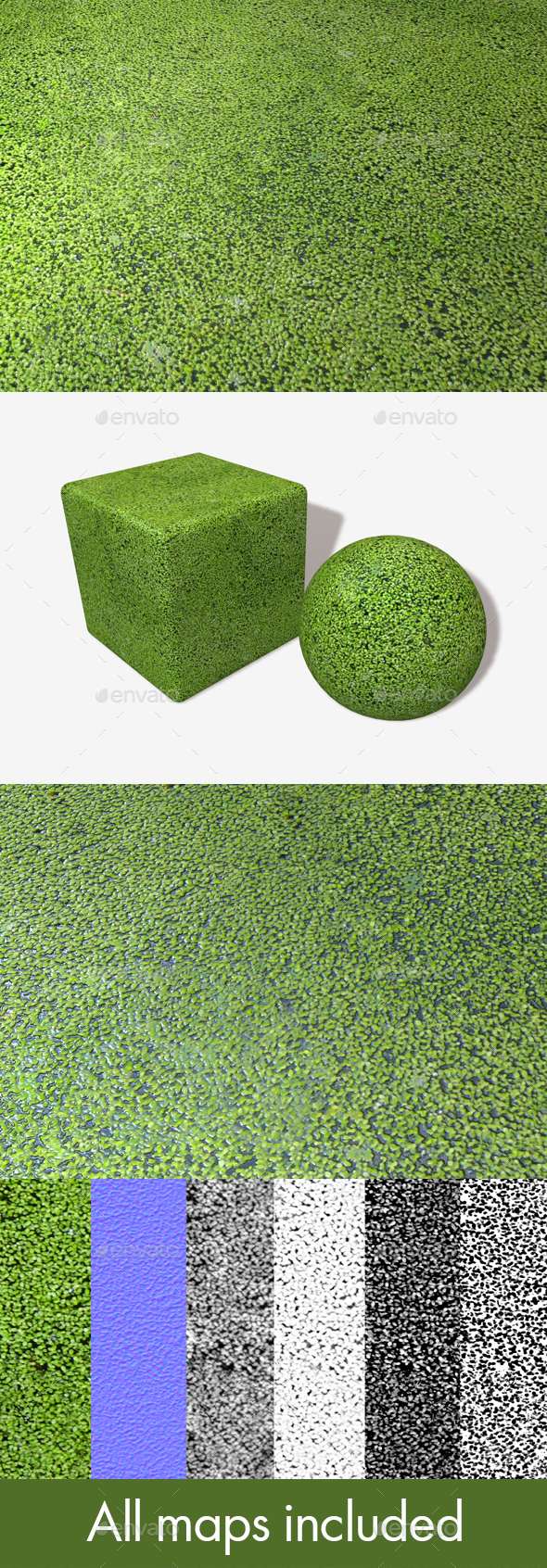Pond Weeds Seamless Texture - 3DOcean Item for Sale